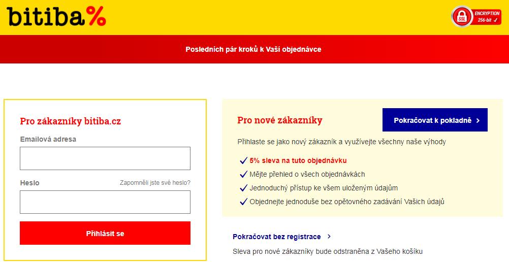 Registrace v obchodě