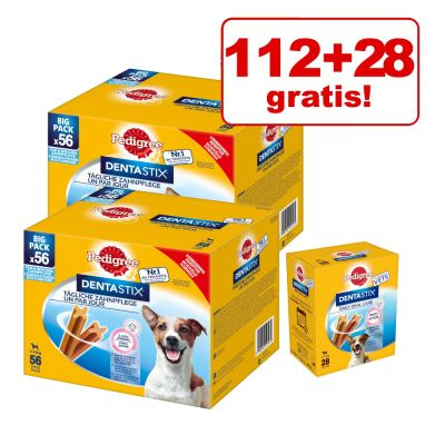 112 + 28 gratis! 140 Pedigree Dentastix
