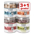 3 + 1 gratis! 4 Snack premium liofilizzati Wolf of Wilderness