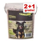 2 + 1 gratis! 3 x 540 Caniland Soft snacks