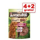 4 + 2 gratis! 6 x 90 g / 120 g AdVENTuROS Hundesnacks