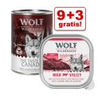 9 + 3 gratis! 12 x 300 g/ 400 g Wolf of Wilderness hrană umedă