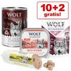 10 + 2 gratis! 12 x 300 g/ 400 g Wolf of Wilderness Nassfutter