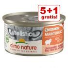 5 + 1 gratis! 6 x 85 g Almo Nature Holistic Maintenance