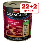22 + 2 gratis! 24 x 800 g Animonda GranCarno Original Adult