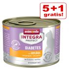 5 + 1 gratis! 6 x 200 g Animonda Integra