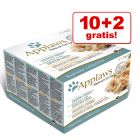 10 + 2 gratis! 12 x 70 g Applaws Multipack Adult Dose