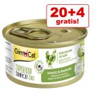 20 + 4 gratis! 24 x 70 g GimCat Superfood ShinyCat Duo