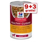 9 + 3 gratis! 12 x 354 g Hill's Science Plan Healthy Cuisine Ragout