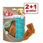 2 + 1 gratis! 3 x 80 g 8in1 Filets Pro tyggesnacks