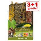 3 + 1 gratis! 4 x 450 g JR Farm Farmy's Grainless XXL