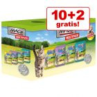 10 + 2 gratis! 12 x 100 g MAC´s Cat in busta