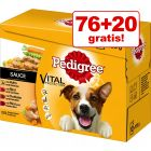76 + 20 gratis! 96 x 100 g Multipack Pedigree Vital Protection
