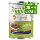 20 + 4 gratis! 24 x 400 g Natural Trainer Sensitive