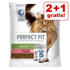 2 + 1 gratis! 3 x 750 g Perfect Fit Katzen Trockenfutter