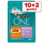 10 + 2 gratis! 12 x 85 g Purina ONE