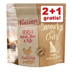 2 + 1 gratis! 3 x 40 g Purizon kattesnacks