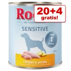 20 + 4 gratis! 24 x 800 g Rocco Sensitive