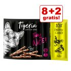 8 + 2 gratis! 10 x 5 g Tigeria Sticks