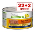 22 + 2 gratis! 24 x 150 g Trainer Natural Adult Small & Toy