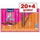 20 + 4 gratis! 24 x 6 g Vitakraft Cat Stick Classic