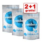 2 + 1 gratis! 3 x 60 g zoolove crunchy treats - Winter edition