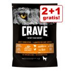 2 + 1 gratis! 3 x 1 kg Crave Adult Dog