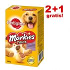 2 + 1 gratis! 3 x Pedigree Markies