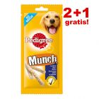 2 + 1 gratis! 3 x Pedigree snacks