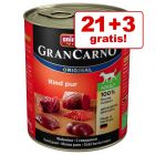 21 + 3 gratis! Animonda GranCarno Original Adult, 24 x 800 g