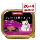 26 + 4 gratis! Animonda vom Feinsten Kitten, 30 x 100 g