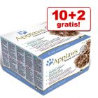 10 + 2 gratis! Applaws Adult konzerve 12 x 70 g