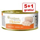 5 + 1 gratis! Applaws Mousse, 6 x 70 g