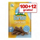 100 + 12 gratis! Barkoo Dental Snacks, 112 szt.