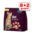 8 + 2 gratis! Felifine Nuggets, 10 x 480 g