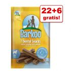 22 + 6 gratis! Pakiet Barkoo Dental Snacks, 28 szt.