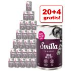 20 + 4 gratis! Smilla Mixed Meat Pot, 24 x 400 g