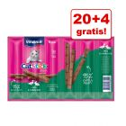 20 + 4 gratis! Vitakraft Cat Stick, 24 x 6 g