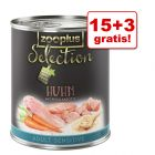 15 + 3 gratis! zooplus Selection, 18 x 800 g
