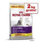 10 + 2 kg gratis! 12 kg Royal Canin Feline