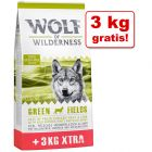 12 + 3 kg gratis! Sucha karma Wolf of Wilderness Adult