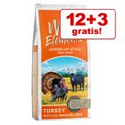 12 + 3 kg Wild Elements Trockenfutter