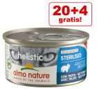 20 + 4 offerts ! 24 x 85 g Almo Nature Holistic