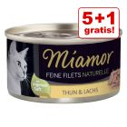 5 + 1 på köpet! 6 x 80 g Miamor Fine Filets Naturelle