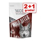 2 + 1 på köpet! 3 x 180 g Wolf of Wilderness Snack - Wild Bites