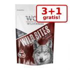 3 + 1 på köpet! 4 x 180 g Wolf of Wilderness Wild Bites Snacks