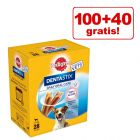 100 + 40 på köpet! 140 x Pedigree Dentastix Daily Oral Care!