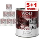 5 + 1 på köpet! Wolf of Wilderness 6 x 800 g