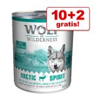 10 + 2 zdarma! 12 x 800 g Wolf of Wilderness Adult