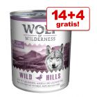 14 + 4 zdarma! 18 x 800 g Wolf of Wilderness